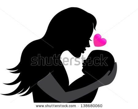 stock-vector-mother-holding-a-young-child-near-the-heart-symbolizing-the-mother-s-love-138680060